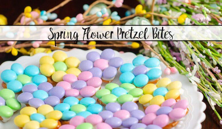 Spring Flower M&M Pretzel Bites