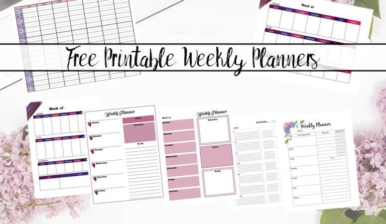 Free Printable Weekly Planners: Multiple Designs
