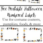 Pin image for free printable halloween numbered labels.