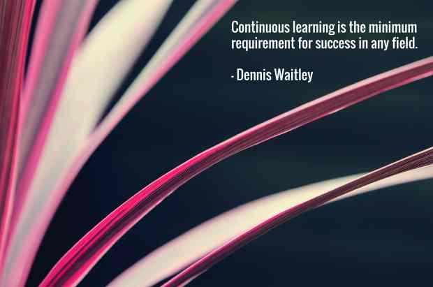 Continuous learning is the minimum requirement for success in any field