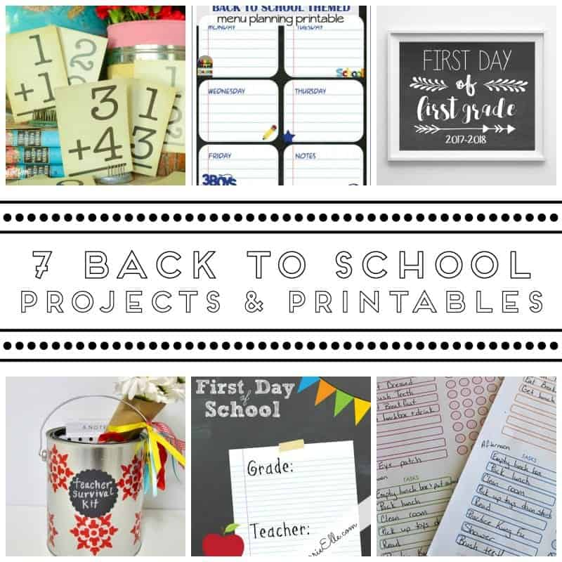 7 Back To School Projects And Printables The How To Home