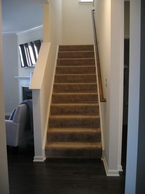 Installing Engineered Hardwood On Stairs – The How To Home | Installing Engineered Hardwood On Stairs | Laminate Flooring | Carpet | Edge Engineered | Nail Head | Dark Walnut