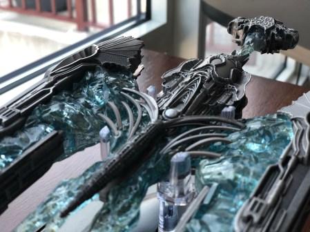 An aft view of the Klingon Sarcophagus Ship.