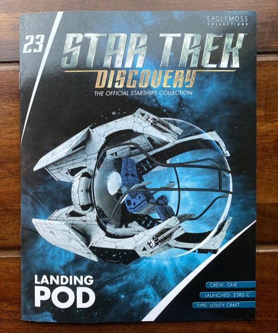 The Landing Pod is the 23rd issue release in the series of ships from STAR TREK DISCOVERY.