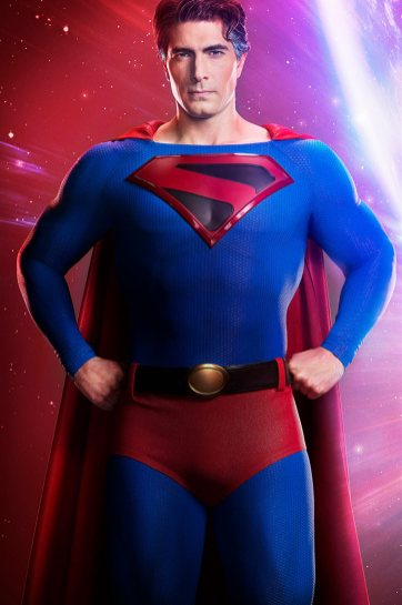 "DC's Legends of Tomorrow ""Crisis on Infinite Earths"" Brandon Routh as Superman -- Photo: Jordon Nuttall/The CW -- © 2019 The CW Network, LLC. All Rights Reserved."