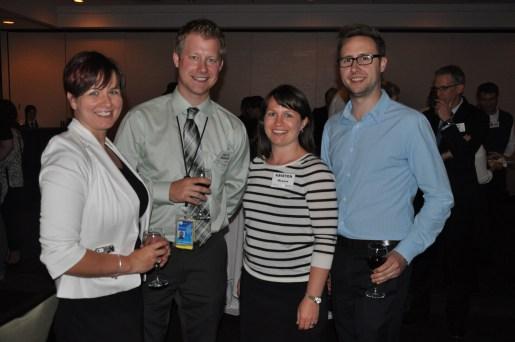 Felicia Wiltshire, Scott Marohn, Kristen McLure and David Driedger of the Winnipeg Richardson International Airport