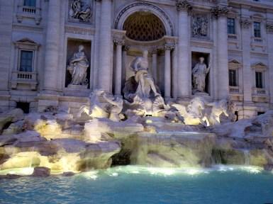 fontana fountain trevi rome italy