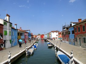 The colorful island of Burano in Italy