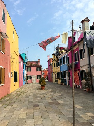 The colorful homes of Burano in Italy