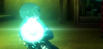Psycho-Pass 2 Episode 1-Tsunemori engages the Dominator [Scene 3]