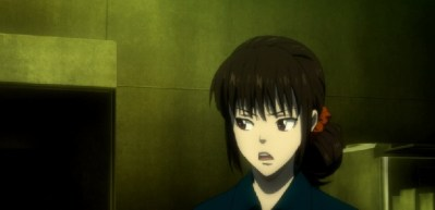 Shimotsuki worried and annoyed-Psycho-Pass 2 Episode #1