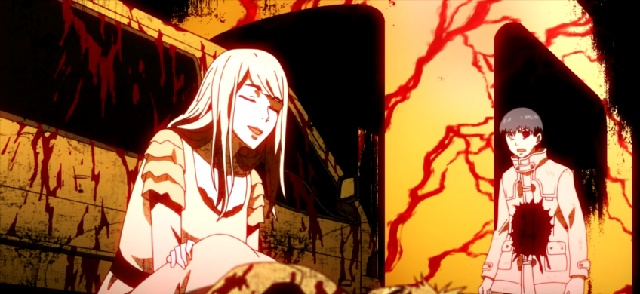 Tokyo Ghoul Episode 2-Rize tries to manipulate Kaneki
