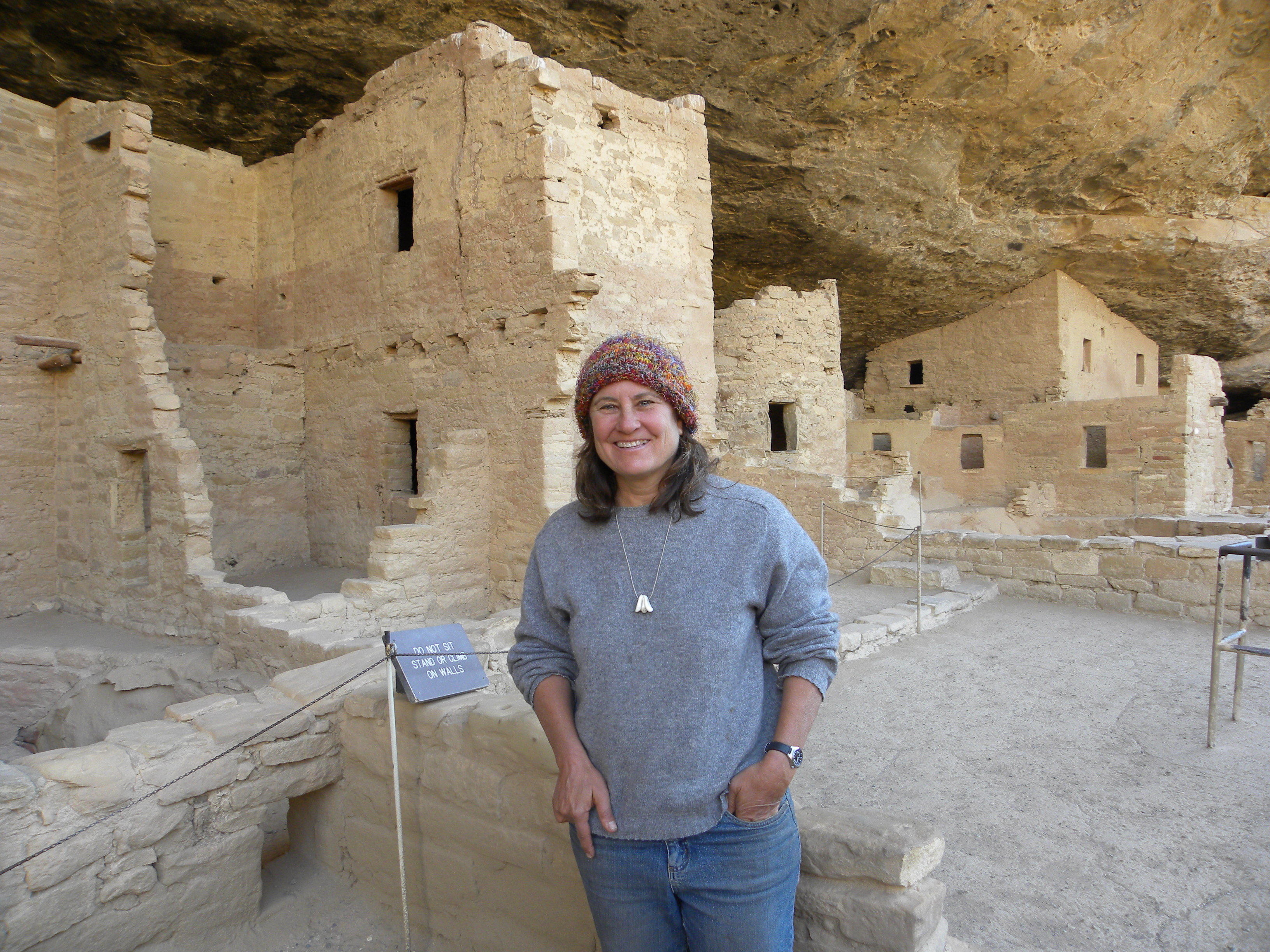 I really was at Mesa Verde.  Proof.