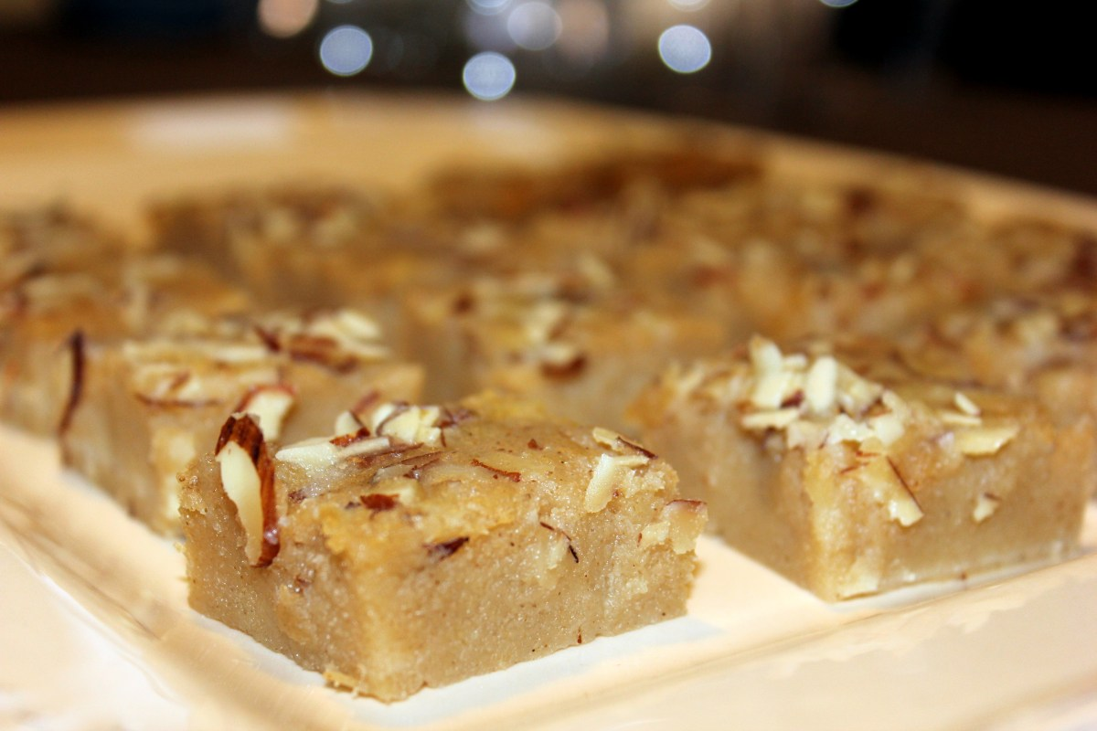 Let's Eat Cake:  Shwe Gyi Mont, or Burmese Semolina Cake