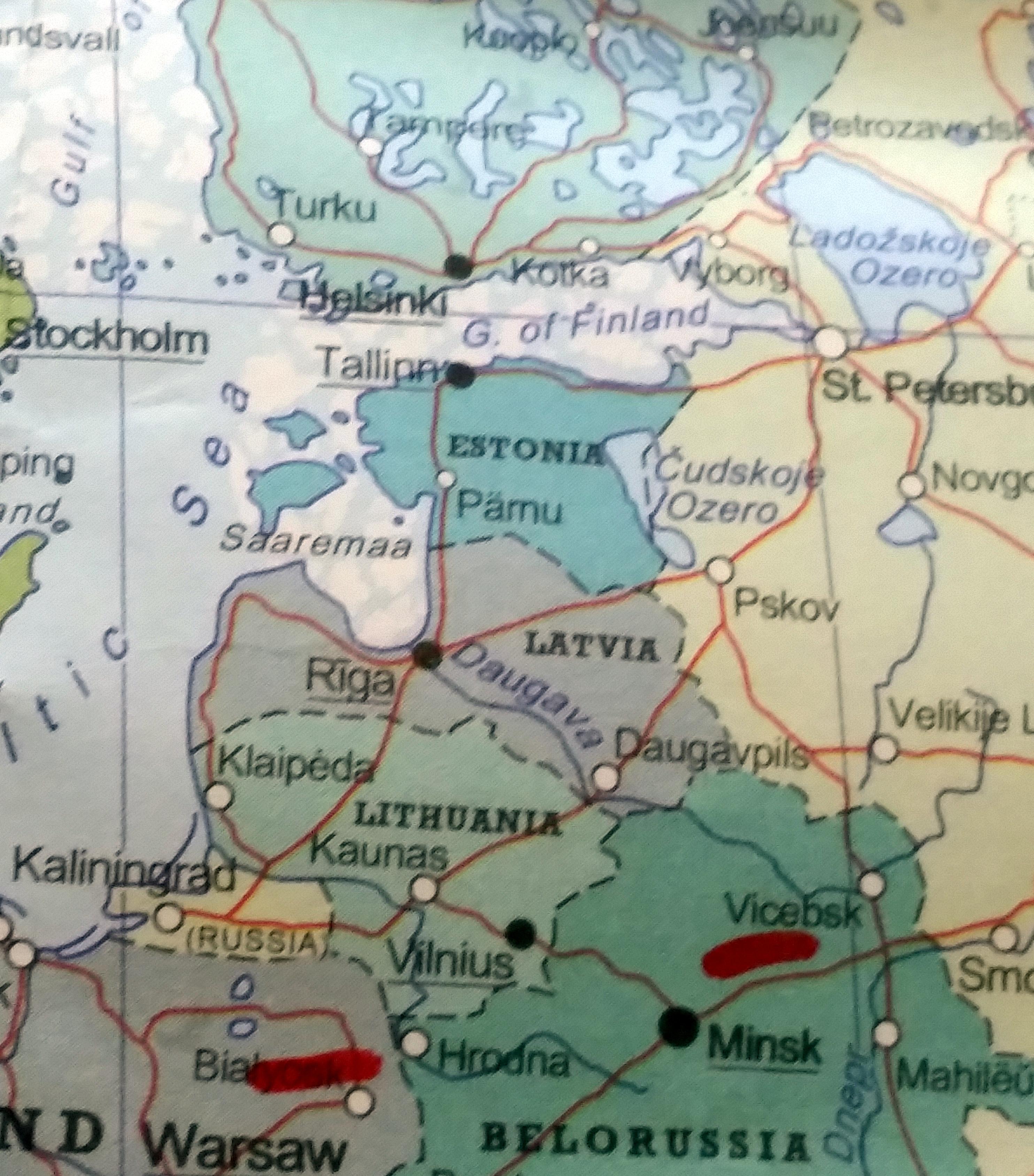 The Baltics: Estonia, Latvia and Lithuania