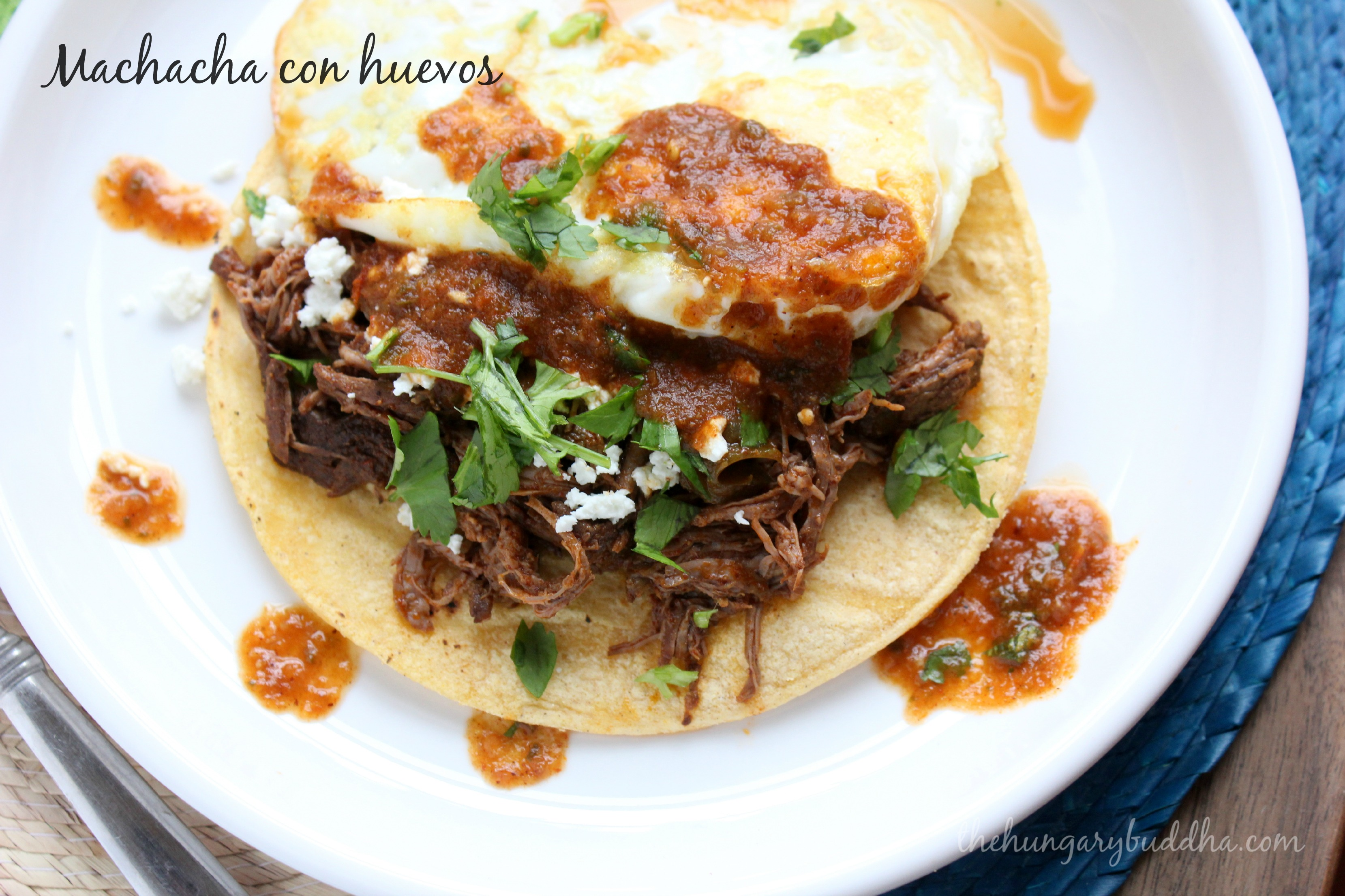 Steak and Eggs, Reinterpreted:  Machaca con Huevos