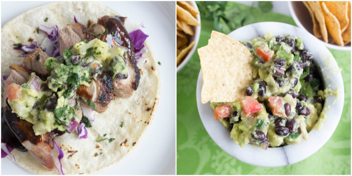 Five Spice Duck Tacos with Pineapple Black Bean Guacamole