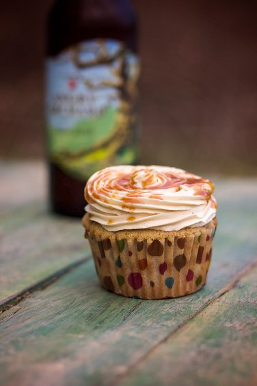 Angry orchard Cupcakes with my Fireball Caramel Sauce