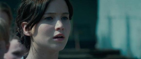 Movie Still: Katniss Volunteers