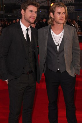 London Premiere: Liam & Chris Hemsworth