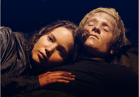 Movie Still: Katniss & Peeta in the Cave