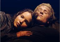Movie Still: Katniss and Peeta in Cave