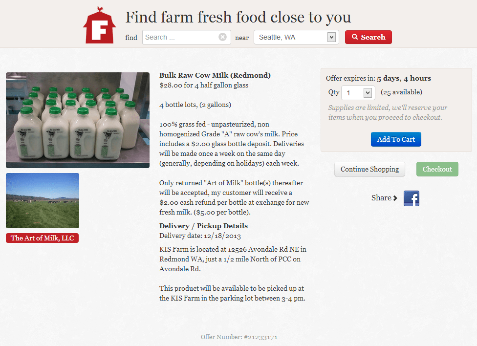 Sample Product Page - Farmstr
