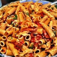 Sun dried tomato and chicken pasta