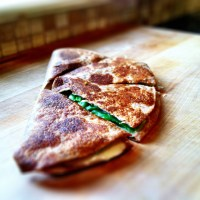 15 days of sandwiches: Day 8 - Broccoli and white cheddar quesadilla (vegetarian)