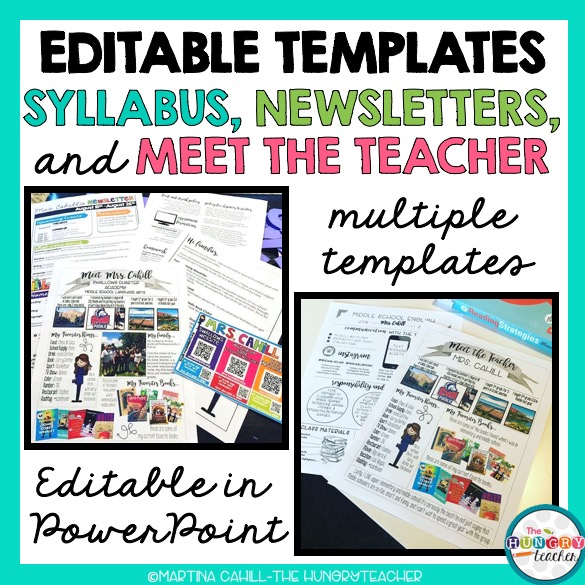 Editable Syllabus Templates, Editable Meet the Teacher