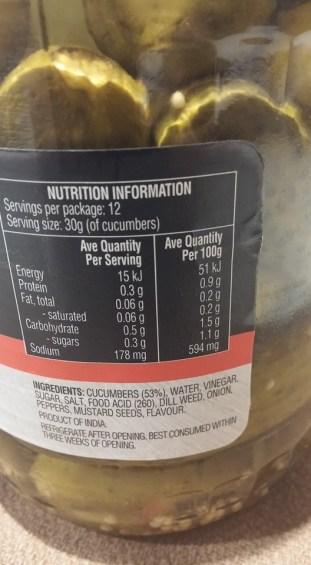 pickle label