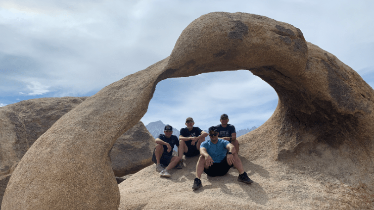 Mobius Arch with Mt. Whitney in the background.