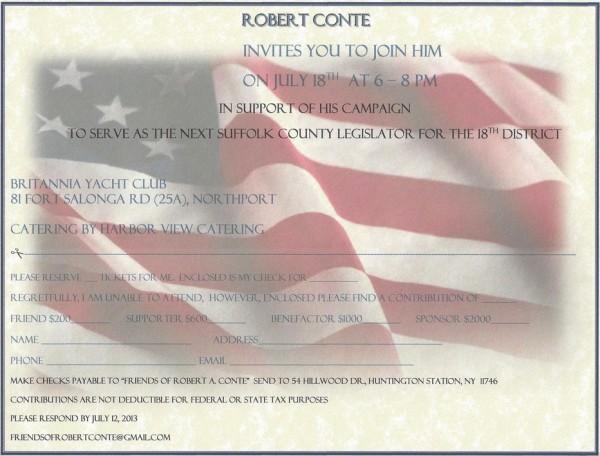 Robert Conte For Legislator Fundraiser The Huntingtonian