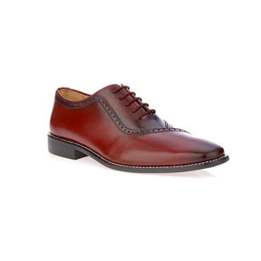 burnished toe-lace up office shoes for men