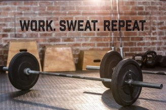 barbell in home gym
