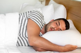 man sleeping after workout
