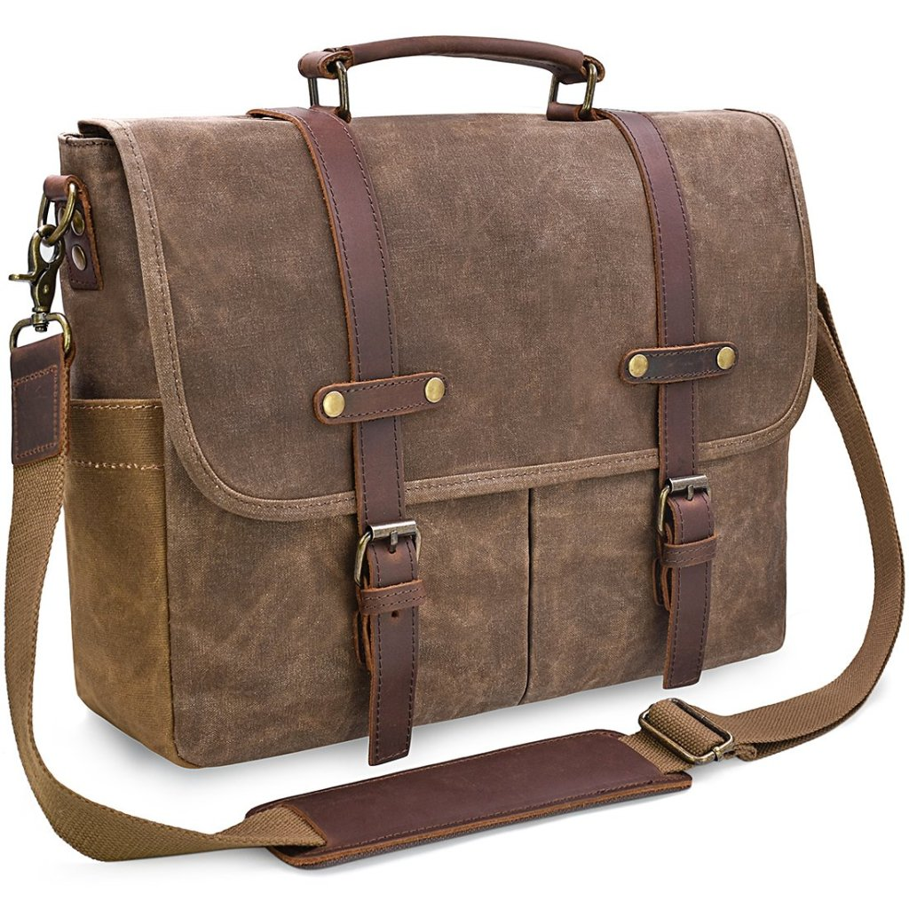 Men's all-in-one messenger bag by NEWHEY