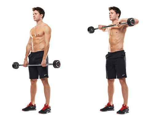 barbell upright row for shoulders workout