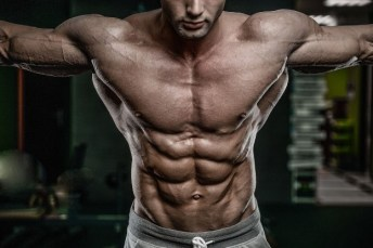 fit man with six pack abs