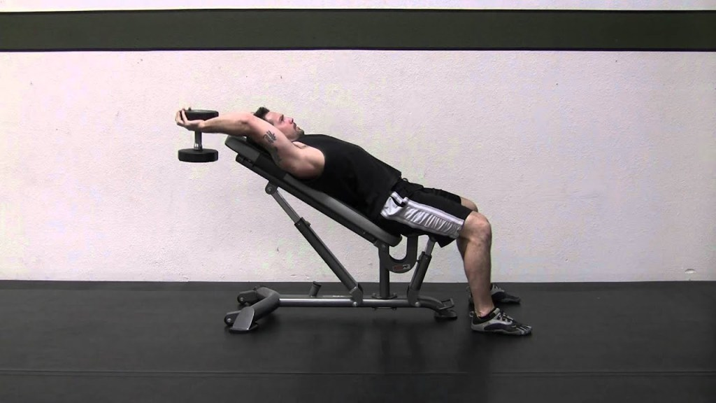 Incline dumbbell pull-over upper chest workout