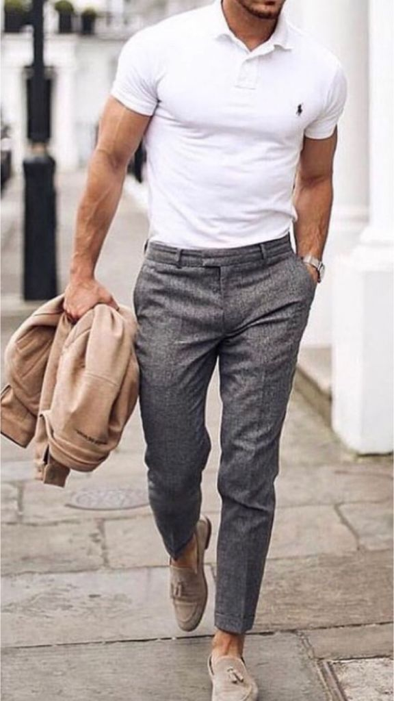 business casual tees outfit male