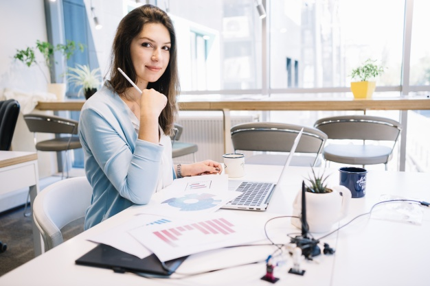 lovely-woman-working-office