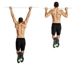 fit man doing weighed pull up back exercise