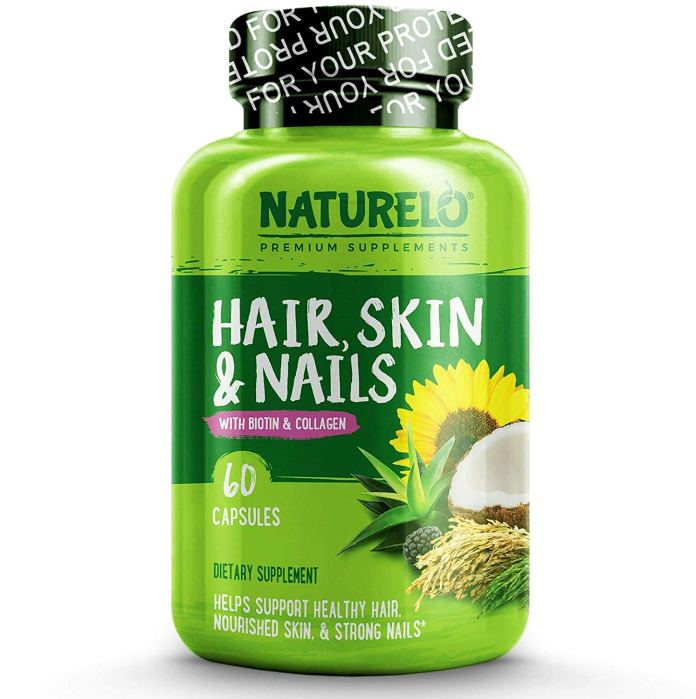 NATURELO Hair, Skin and Nails Vitamins