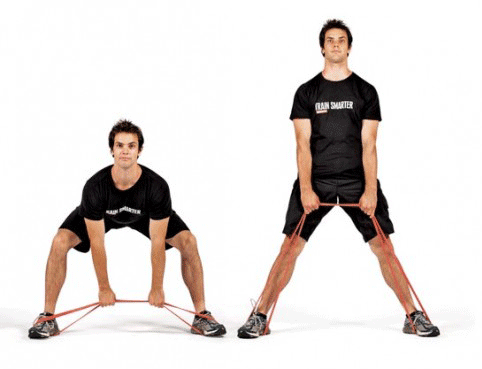 deadlift with resistance band at home love handle melt