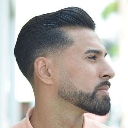 short and tapered beard style for men