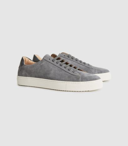 Suede trainer sneakers for men