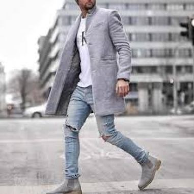 mens trench coat style fashion