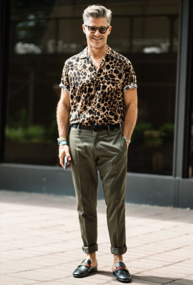 monochrome animal print fashion trends men
