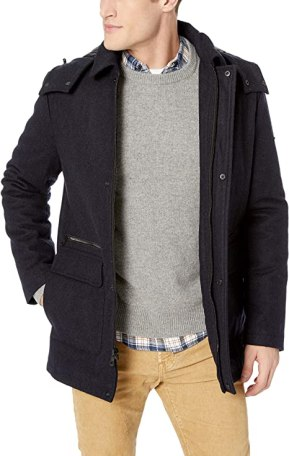 Calvin Klein mens Calvin Klein Men's Wool Duffle Coat